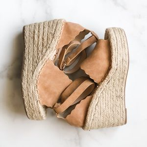 New Ccocci Jade Tan wedge espadrille sandals